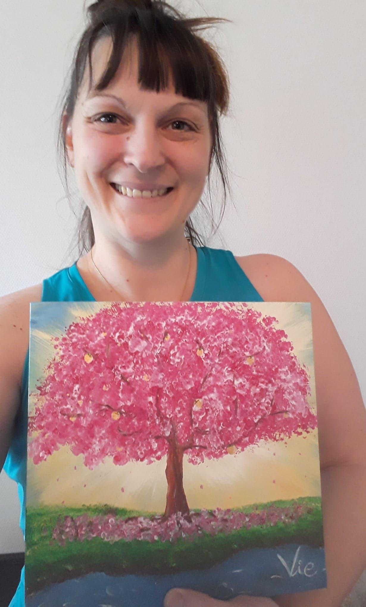 peinture vibratoire arbre de vie fanny goubet