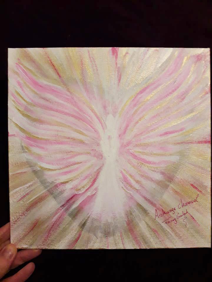 peinture vibratoire archange chamuel Fanny Goubet