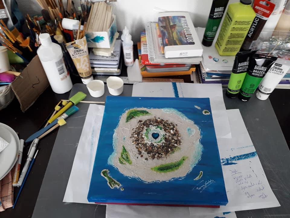 peinture vibratoire fanny goubet paisible