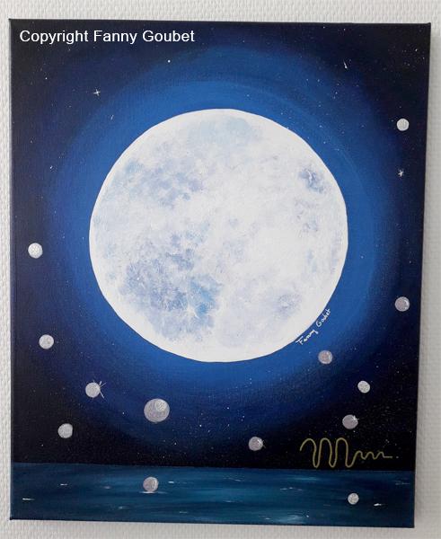 hommage a la lune peinture medecine